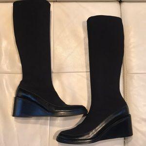 Donald J Pliner tall wedge boot